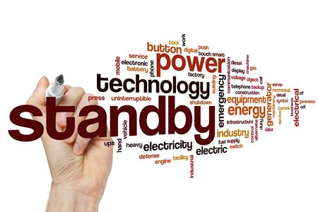 Standby word cloud concept