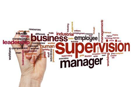 Supervision word cloud concept Banque d'images - 129453712