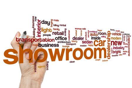 Showroom word cloud concept