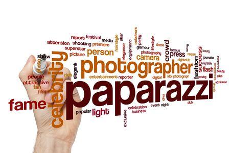 Paparazzi word cloud concept