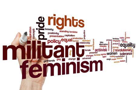 Militant feminism word cloud concept Фото со стока