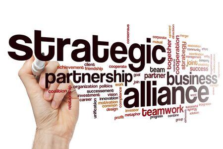 Strategic alliance word cloud concept Фото со стока