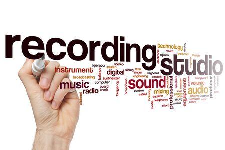 Recording studio word cloud concept Banque d'images - 129453732