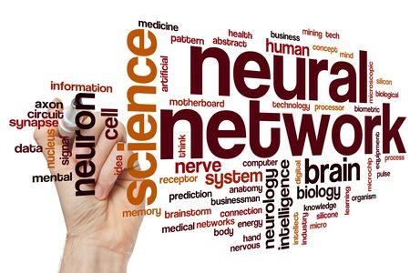 Neural network word cloud concept Banque d'images - 129453747