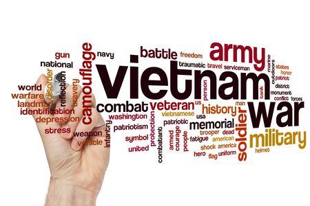 Vietnam war word cloud concept