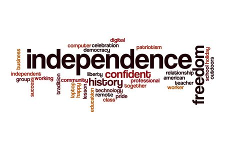Independence word cloud concept on white background Stock fotó