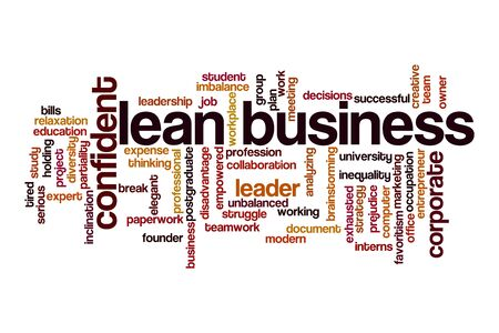 Lean business word cloud concept on white background Stock Photo