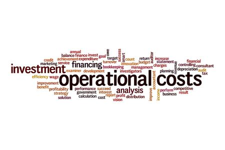 Operational costs word cloud concept on white background