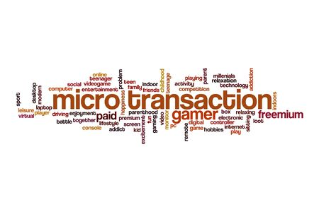 Micro transaction word cloud concept on white background