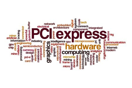 PCI express cloud concept on white background