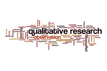 Qualitative research cloud concept on white background