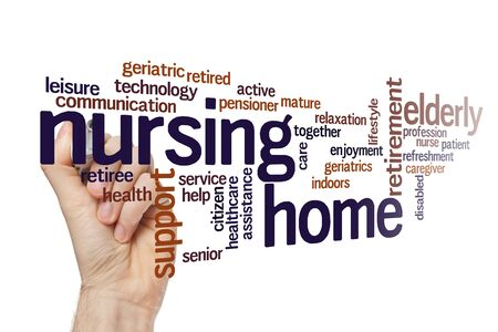 Nursing home word cloud concept on white background