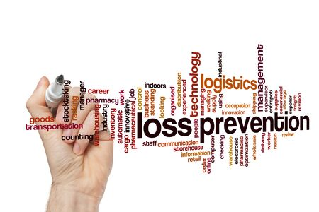 Loss prevention word cloud concept on white background