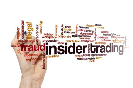 Insider trading word cloud concept on white background