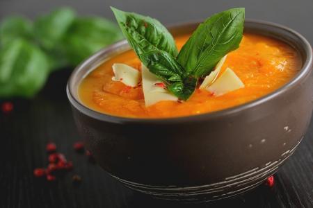 Pumpkin soup with Parmesan