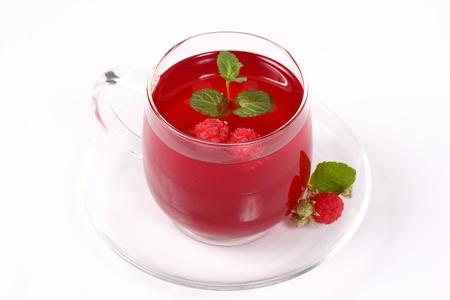 Warming raspberry tea