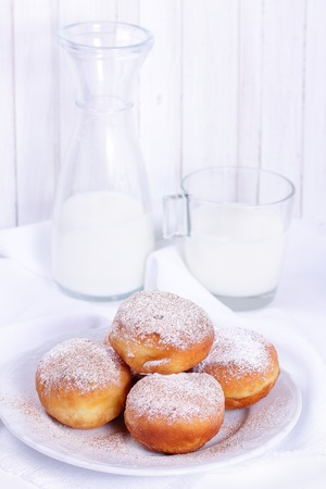 Homemade donuts with chocolate filling  Stock Photo - 16849690