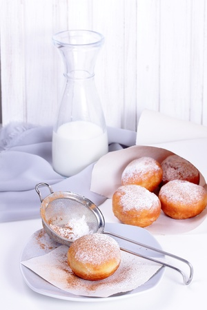 Homemade donuts with chocolate filling Stock Photo - 16849686