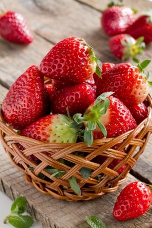Home Grown Strawberries in Basket Stock Photo - 18246824
