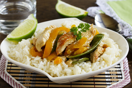 stir-fry with Turkey and vegetables.