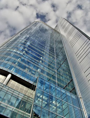warsaw: One of the new glass skyscaper in Warsaw Poland