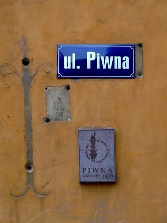 stare miasto: Piwna street is one of the most popular street in Warsaw old town