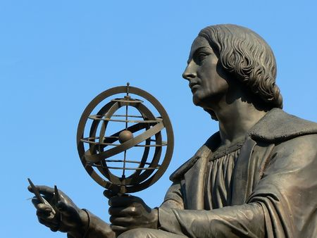 Nicolaus Copernicus memorial situated  in Warsaw Poland Stock Photo - 1355709