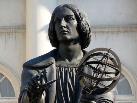 Nicolaus Copernicus memorial situated  in Warsaw Poland
