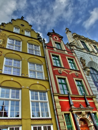 Colorful house in the city of Gdansk in Poland Stock Photo