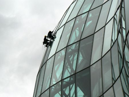 Extreme window cleaners on the sage Gateshead