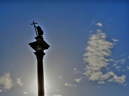 stare miasto: King Zygmunt III column landmark of Warsaw