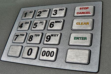 automatic teller machine: automatic teller machine closeup shot