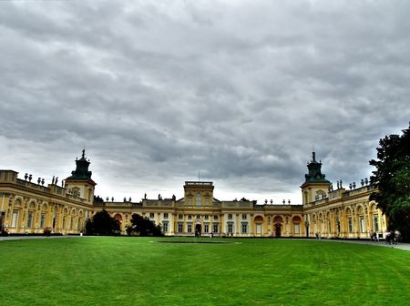 General view of Wilanow palace in Warsaw Stock Photo