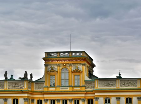 sobieski: Close up shot of the Wilanow palace in Warsaw Stock Photo
