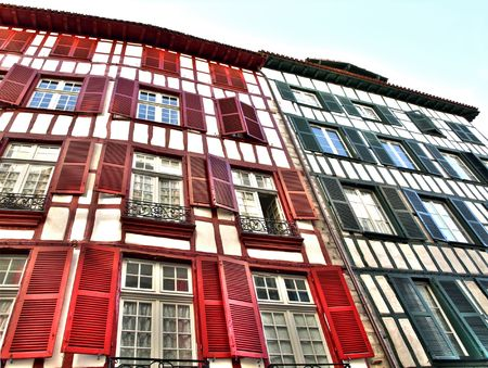 Colorful house in Bayonne France