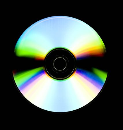 recordable: close up of a recordable cd isolated on black