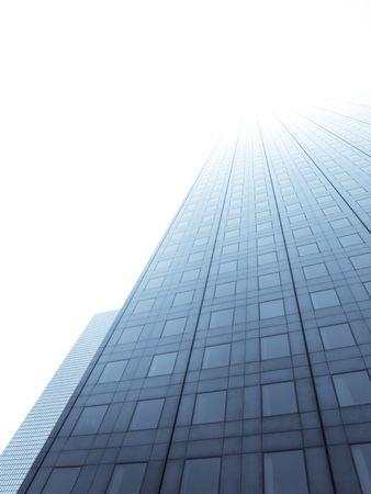 Glass skyscraper towards bright  sky Stock Photo