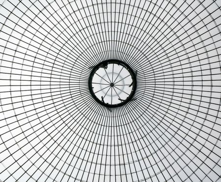 Kibble Palace glasshouse roof in Glasgow Stock Photo