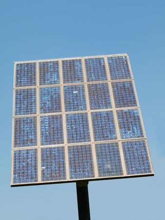 Solar panel under pure blue sky Stock Photo - 5123103