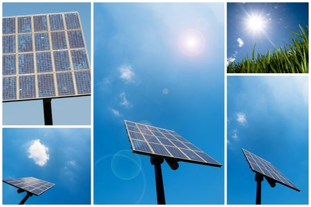 solarcell: A collection of solar energy related pictures Stock Photo