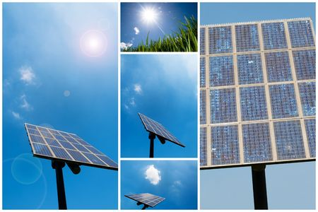 A collection of solar energy related pictures photo