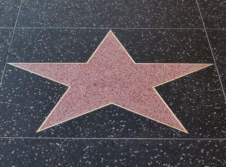 reconocimiento: Estrella de hollywood vac�a en la acera del bulevar de Hollywood, California Foto de archivo