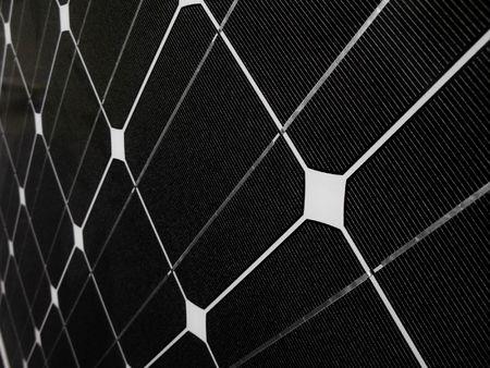 Dark solar panel closeup Stock Photo