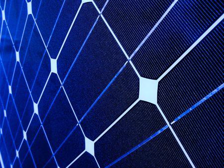 Closeup of a blue photovoltaic solar cell Stock Photo - 6719651