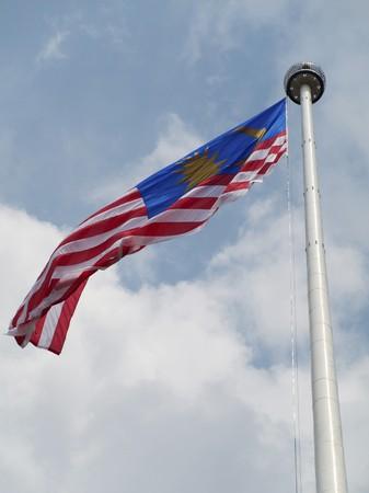 Malaysian flagpole in Merdeka square in Kuala Lumpur Malaysia Stock Photo