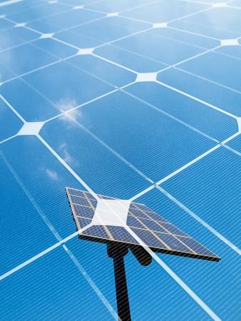 Photovoltaic panel  montage Stock Photo - 7754552