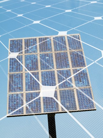 Photovoltaic panel  montage Stock Photo - 7754580