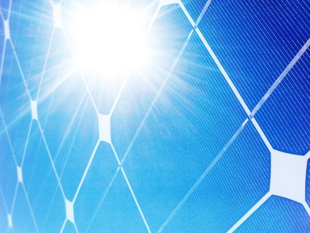 Photovoltaic solar panel against bright sunshine Stock Photo - 7856234