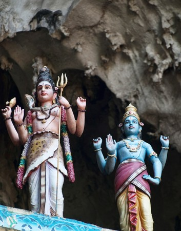 Details of  statues at the entrance of Batu caves in Kuala Lumpur Malaysia photo