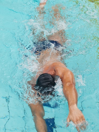Male swimmer photo